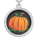 Pumpkin Sterling Silver Necklace necklace