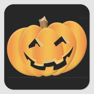 Pumpkin Square Sticker