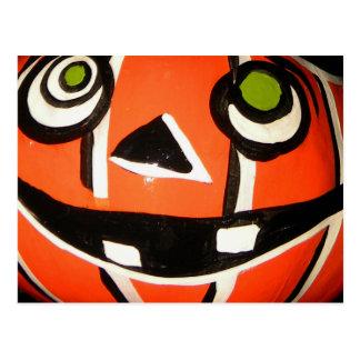 Pumpkin Stripe Postcard