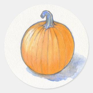 Pumpkin Study Classic Round Sticker