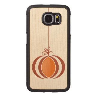 Pumpkin Stylized Illustration Wood Phone Case