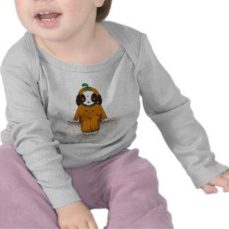 Pumpkin-suited puppy t shirts