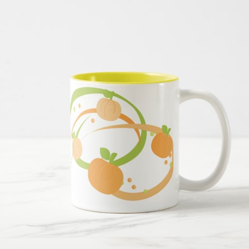 Pumpkin Swirl! Two-Tone Coffee Mug