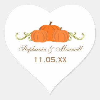 Pumpkin Swirls Fall Wedding Stickers