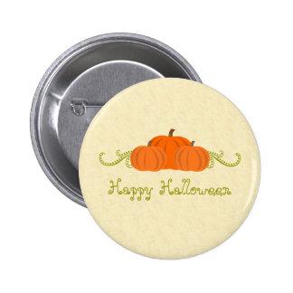 Pumpkin Swirls Halloween Button