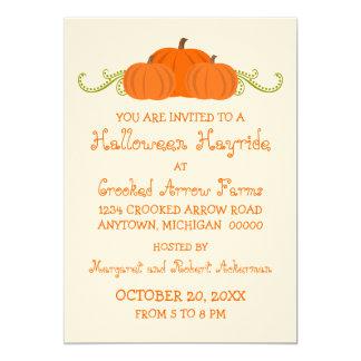 Pumpkin Swirls Halloween Party Invitation