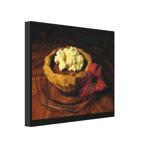 Pumpkin Tart Canvas Print