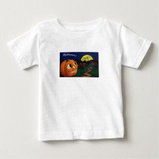 Pumpkin & The Moon (Vintage Halloween Card) Baby T-Shirt