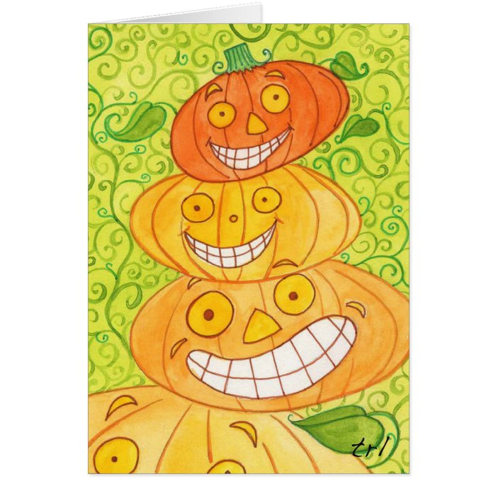 Pumpkin Totem Card