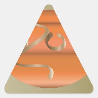pumpkin triangle sticker