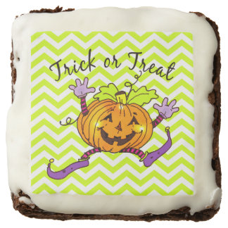 Pumpkin Trick or Treat Brownie