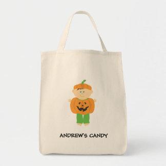 Pumpkin Trick or Treat Halloween Bag