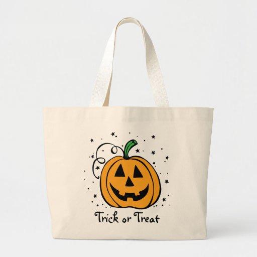 Pumpkin Trick or Treat Jumbo Tote Bag