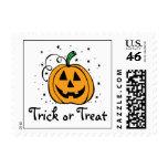 Pumpkin Trick or Treat Postage Stamp