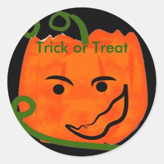 Pumpkin, Trick or Treat, stickers