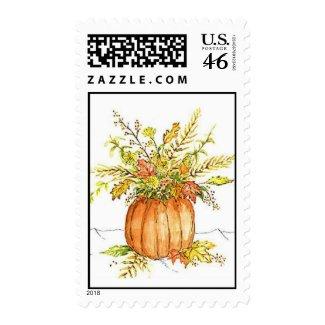pumpkin vase postage stamp stamp