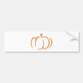 Pumpkin Vegetable Icon Bumper Sticker