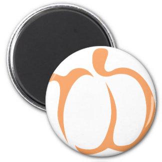 Pumpkin Vegetable Icon 2 Inch Round Magnet