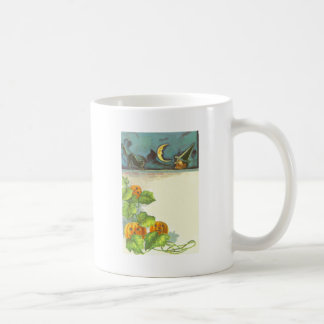 Pumpkin Vines Jack O Lantern Witch Black Cat Coffee Mug