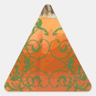 pumpkin vines triangle sticker