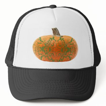 Halloween Themed pumpkin vines trucker hat