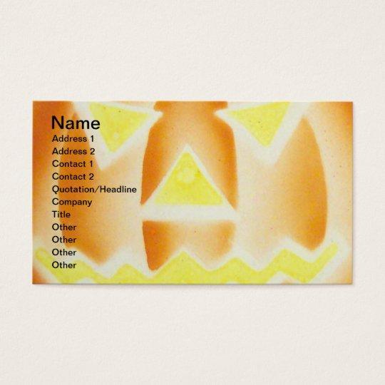 Pumpkin(Vintage Halloween Card) Business Card