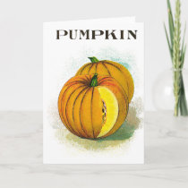 Pumpkin - Vintage Seed Crate Label