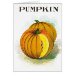 Pumpkin - Vintage Seed Crate Label Card
