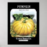 Pumpkin Vintage Seed Packet Poster