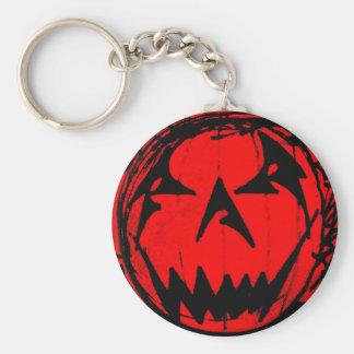 Pumpkin Virus Basic Round Button Keychain