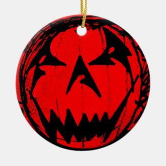 Pumpkin Virus Ceramic Ornament