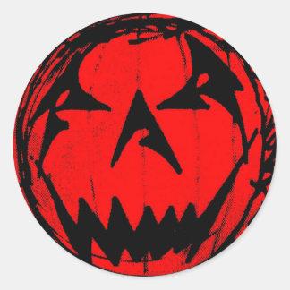 Pumpkin Virus Classic Round Sticker