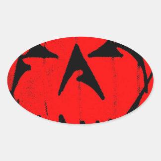 Pumpkin Virus Oval Sticker