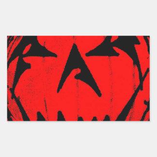 Pumpkin Virus Rectangular Sticker