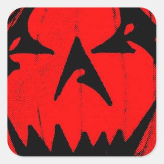 Pumpkin Virus Square Sticker