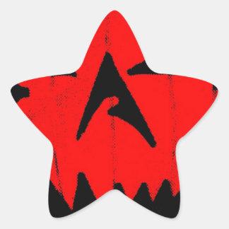 Pumpkin Virus Star Sticker