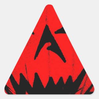 Pumpkin Virus Triangle Sticker