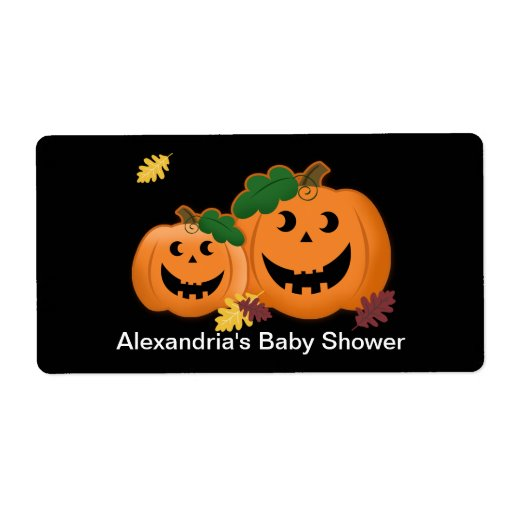 Pumpkin Water Bottle Sticker