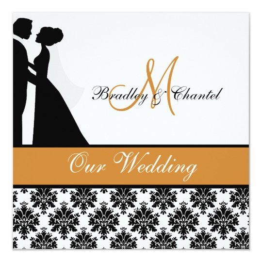 Pumpkin Wedding Couple Wedding Invitation