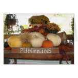 Pumpkin Welcome Greeting Cards