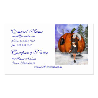 Pumpkin Witch Double-Sided Standard Business Cards (Pack Of 100)