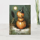 Pumpkin Witch Halloween Card (Visit shop to see more cute meaningful cards)