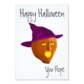 Pumpkin Witch: Happy Halloween - You Hope Card