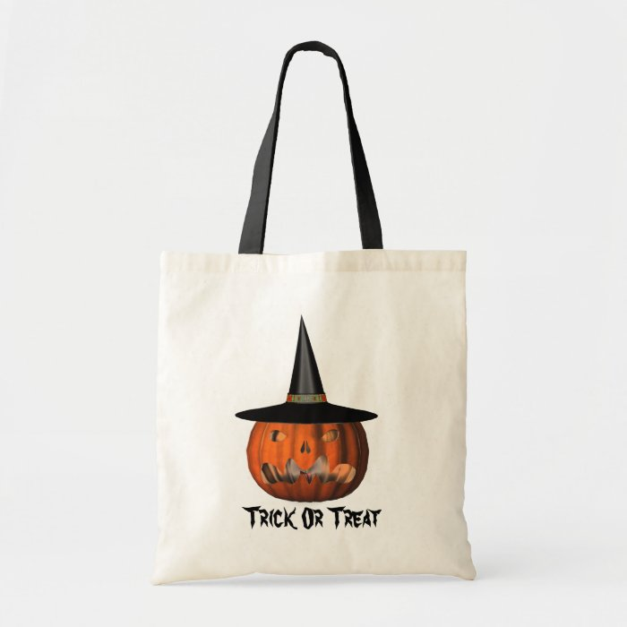 Pumpkin Witch Hat Halloween Cute Tote Bag