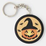 Pumpkin Witch Keychain