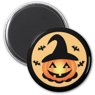 Pumpkin Witch Magnet
