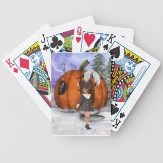 Pumpkin Witch Bicycle Poker Cards