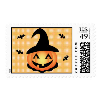 Pumpkin Witch Postage