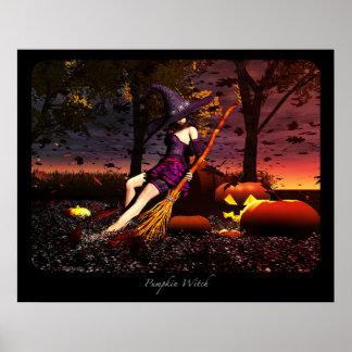 Pumpkin Witch Poster