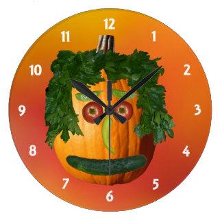 Pumpkin with a Face Clock